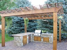 pergola outdoor kitchen paver patio pictures patio traditional with cedar pergola outdoor
