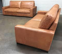 Chestnut Leather Sofa 84 Braxton Leather Sofas In Italian Glove Chestnut Custom Depth