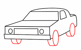 How To Draw A Bed Drawing A Cartoon Taxi