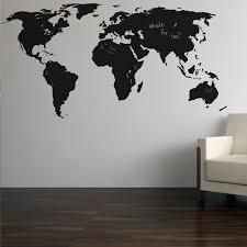 Large Wall World Map by World Map Chalkboard Wall Sticker Cuckooland