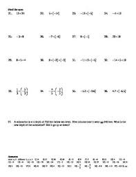 algebra 1 2a adding and subtracting real numbers worksheet doc u0026 pdf