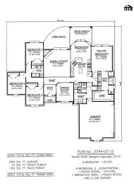 4 bedroom 1 story house plans ahscgs com