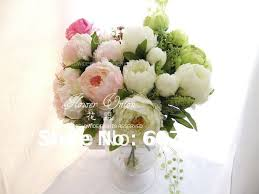 wedding flowers table arrangements high quality peony bridal bouquet wedding party table centerpiece