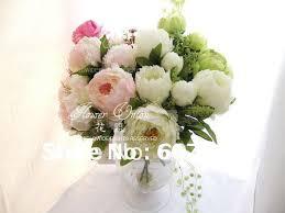 Wholesale Silk Flower Arrangements - aliexpress com buy high quality peony bridal bouquet wedding