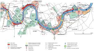 thames river map europe thames strategy kew to chelsea visitor map