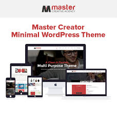 master creator minimal wordpress theme by designingmedia