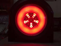 led brake lights for trucks 4 red 18 led 4 round truck trailer brake stop turn tail lights