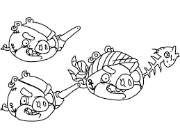 animal coloring angry birds picnic pigs coloring pages angry birds