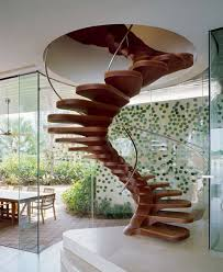 Hanging Stairs Design Interior Design Wood Spiral Staircase With Book Storage Stairs