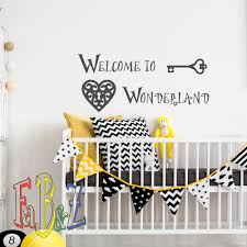 20 baby nursery decal stickers wall decor ideas ohmygoogoogaga welcome to wonderland alice in wonderland wall decal via fabwalldecals