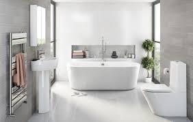 bathroom modern ceiling light grey shower curtain glass shower