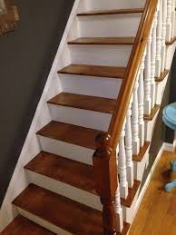 How To Refinish A Wood Banister How To Refinish A Staircase For Under 50 Frugalwoods