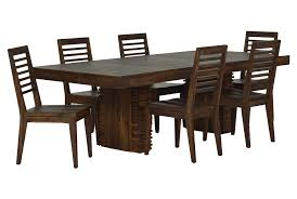 Living Spaces Dining Room Sets Teagan 7 Piece Extension Dining Set Extensions Living Spaces