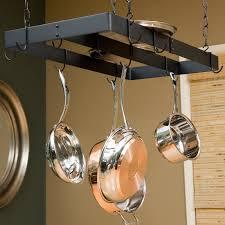 kitchen pot racks with lights the gourmet bar pot rack hayneedle