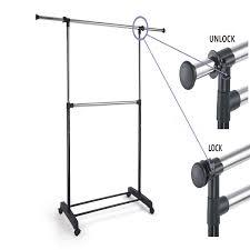 proaid adjustable 2 tier garment rack premium steel quality