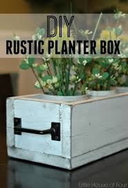 rustic dining table planter box little house of four creating a rustic planter box seemed to be the perfect solution to brighten up the table and bring a touch of spring to the space