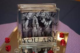Words and Wisdom Custom Vinyl Lettering Glass Blocks Wedding