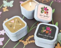 Wedding Favors For Bridal by Bridal Shower Favors Personalized Candles Wedding Favors