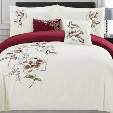 sinclair floral embroidered bedding set 5 piece christmas tree