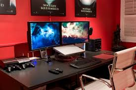 amazing gaming computer desk setup with cool gaming computer desk