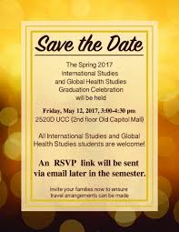 Save The Date Emails Save The Date Is And Ghs Graduate Celebration Global Health