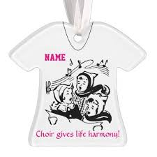 personalized choir singer ornament diy cyo customize create your
