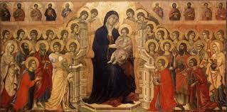 martini virgin duccio di buoninsegna virgin and child enthroned with saints
