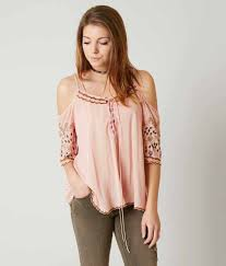 light pink top women s gimmicks cold shoulder top women s shirts blouses in light pink