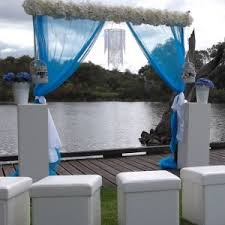 wedding backdrop melbourne blue and white wedding backdrop the wedding arch by ceremonies i