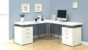 Mercury Corner Desk L Shaped Computer Desk With Storage Side Finishes Select