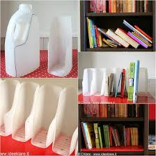 Bookshelf Book Holder How To Diy Book Organizer From Recycled Plastic Bottles