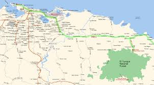 Puerto Rico Airport Map by El Yunque National Forest Contact Us