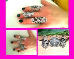 long silver rings images Long silver ring etsy jpg