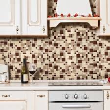 Mosaic Tile For Backsplash by Decor Exciting Kitchen Decor Ideas With Peel And Stick Mosaic
