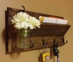 rustic mail holder home decor wood mail holder mail