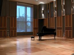 single grand piano set in very spacious room part of furniture
