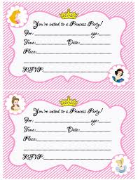 create your own princess birthday w free printables