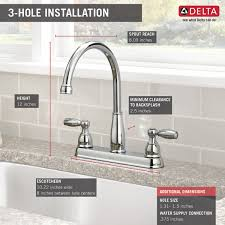 Delta Kitchen Faucet Installation Video by 21987lf Two Handle Kitchen Faucet