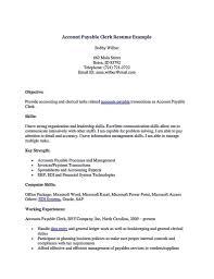 Resume Templates Microsoft Word Accounts Payable Job Resume Sample And Accounts Payable Resume