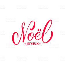 joyeux noel french merry christmas calligraphy icon trendy