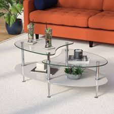 Pictures Of Coffee Tables In Living Rooms Oval Coffee Tables You Ll Wayfair