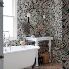 wallpaper designs for bathrooms patterned bathroom bathroom wallpaper wallpaper and wallpaper uk