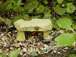 fairy garden stone bench moss stone woodland fairy garden bench