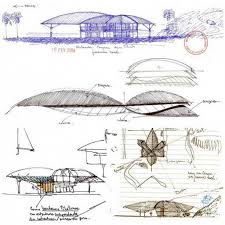 conceptual tropical house blueprint plans layout design