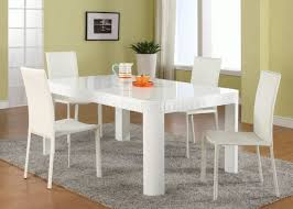 Contemporary Dining Set Modern White Dining Room Set G020 With White Chairs Pictures To