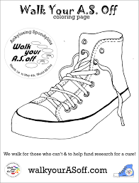 coloring page walk your a s off sneaker walk your a s