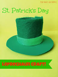mini monets and mommies leprechaun hat craft for st patrick u0027s day