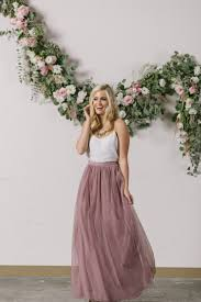 anabelle mauve tulle maxi skirt gray and mauve