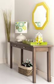 Pedestal Support Chic Small Foyer Table Ideas Featuring Two Shelf Featured And