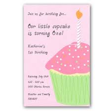 birthday cupcake pink party invitations paperstyle
